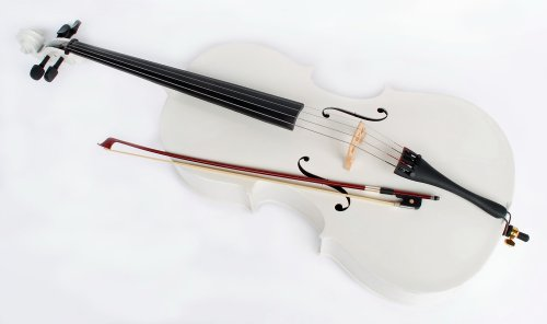 weisses 4/4 Cello inklusive Bogen & Tasche