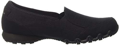 Skechers Bikers-Lounger, Mocassini Donna Nero (BLK)
