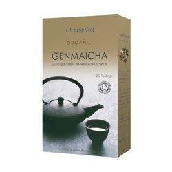 Clearspring Organische Japanisch Grüner Tee mit gerösteten Reis Genmaicha Teebeutel / Folienbeutel (10 × 2 g)