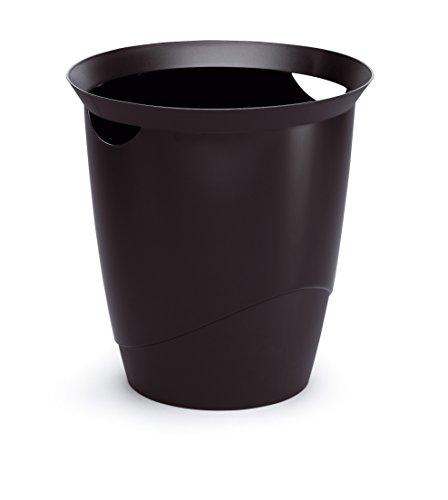 Durable 1701710060 Papierkorb Trend, schwarz