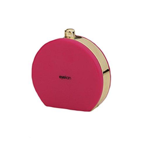 Set von 2 Kontaktlinsen-Koffer-Lösung Halter Kosmetikbox Travel Kit, Rose rot