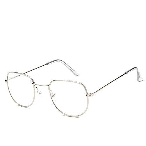 Sonnenbrille Sonnenbrille Retro Metallrahmen Uv400 Klare Linse Plain Gläser Reisen Im Sommer Sonnenbrillen Für Männer Frauen Silber Transparent Spiegel Spiegel (Plain Gläser Wayfarer)