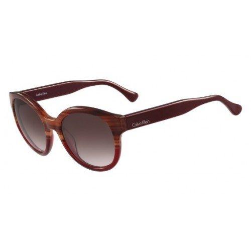 Calvin Klein CK4313S Striped Havana Brown Gradient Red Sonnenbrille