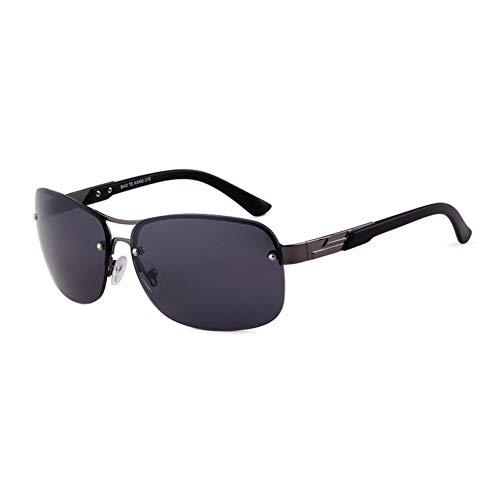 Taiyangcheng Frauen-Doppelstrahl-halbrandlose Sonnenbrille Männer Pilot Gradient Lens Glasses,C3 grau