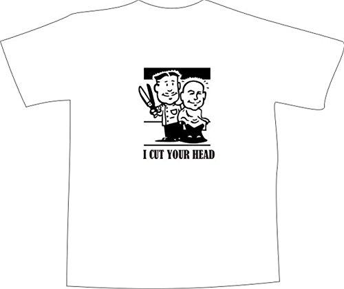 T-Shirt E1226 Schönes T-Shirt mit farbigem Brustaufdruck - Logo / Grafik / Design - lustiges Friseur Motiv / Friseurmeister im Salon Mehrfarbig