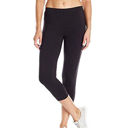 TOPEREUR Sport Leggings Naht mit Taschen Damen Sporthose Yogahose Fitnesshose Yoga Leggings für Damen High Waist Jogginghose Tights Frauen ElatischTrainingshose Laufenhose (M, Schwarz)