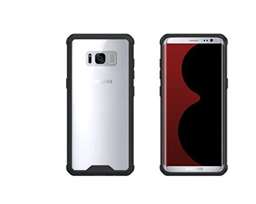 Kohinshitsu Hybrid Bumper Case Cover Shell for Samsung Galaxy S8 Plus / Samsung S8 Plus Mobile Phone 2017 Model (Black)