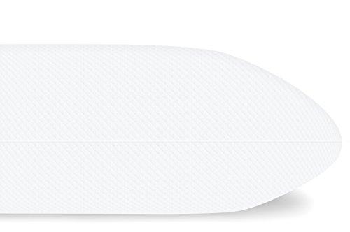Orthopädisches Kopfkissen, 40 x 80 x 15 cm, Visco-Gelschaum, Premium Doppeltuch Bezug, Made in Germany - Nackenstützkissen, Nackenkissen, Kissen