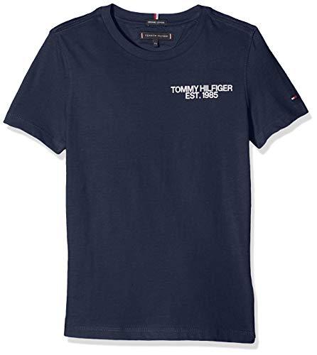 Tommy Hilfiger Jungen Essential Class. Graphic Tee S/S T-Shirt, Blau (Black Iris 002), 164 (Herstellergröße: 14)