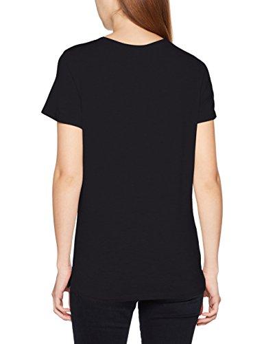 ONLY Damen T-Shirt Onlbibi S/S Sequins Shine Top Box Ess Schwarz (Black Print:Bling (Black))