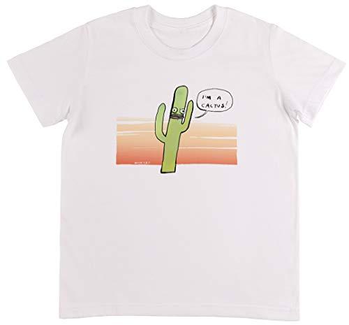 Cactus - Cactus Weiß T-Shirt Jungen Mädchen Größe 2XS | Unisex Kids White T-Shirt Size 2XS