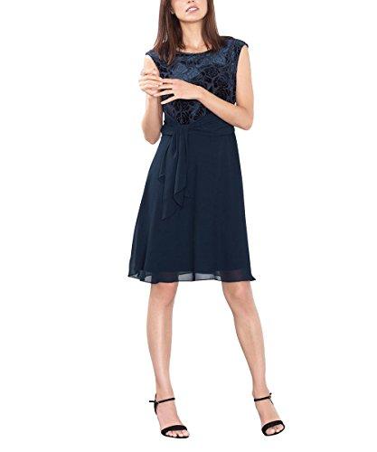 ESPRIT Collection 106EO1E015, Vestito Donna, Blu (Navy), 40 (Taglia Produttore: Large)