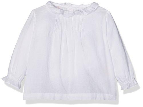 Gocco Baby-Mädchen Bluse Blusa De Manga Larga, Weiß (Blanco), 68 cm (Herstellergröße: 03/06/2016)