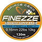 Savage Gear Finezze Advanced Super Braid HD4 * 4fach geflochtene Schnur * Angelschnur * 120m