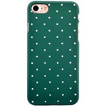 """Inonler Diseño de lunares clásico de puntos lindos patrón funda para iPhone 7(4,7""""), Funda Verde"""