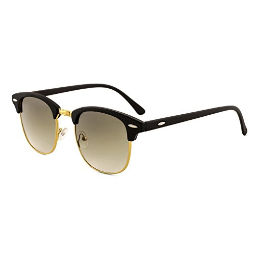 Royal Son UV Protected Square Sunglasses For Men And Women (WHAT4850|51|Green Lens)