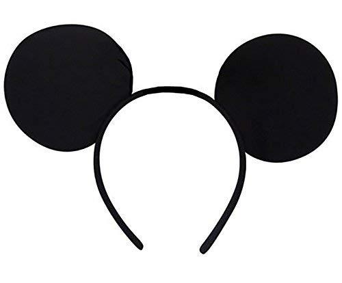 Card and Party Store Mickey Maus Ohren Schwarz Stirnband Disney Minnie Erwachsene Kinder Kostüm Sie Ihm ()