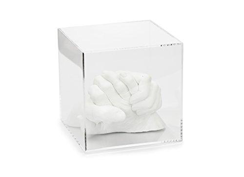 Cubo in vetro acrilico senza iscrizione (8,5 x 8,5 x 8,5 cm, nessun pavimento in feltro)