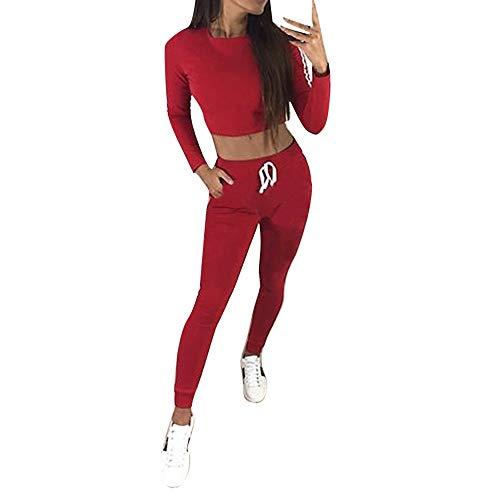 Luckycat Frauen beiläufiger Streifen O Ansatz Langhülse Pullove Sport Oberseiten + Lange Hosen Satz Mode 2018