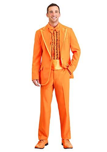 Kostüm Orange Tuxedo Erwachsene Für - Orange Tuxedo Fancy Dress Costume Adult Large
