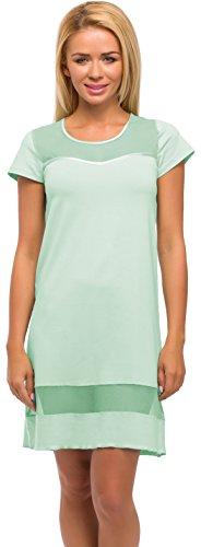 Merry Style Camicia da Notte per Donna Modello 520 (Menta, (520 Menta)