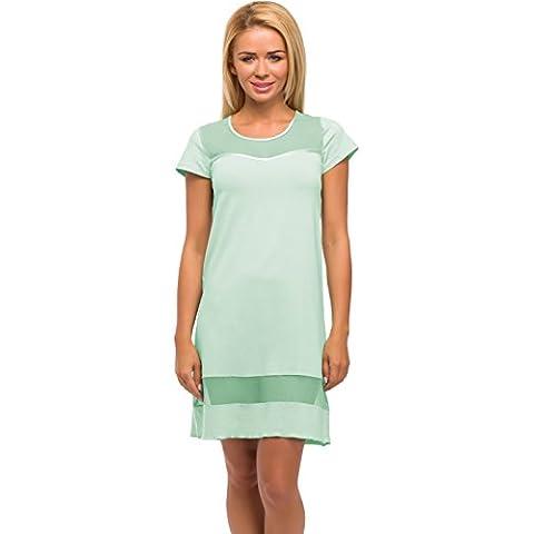 Merry Style Camicia da Notte per Donna Modello (520 Menta)