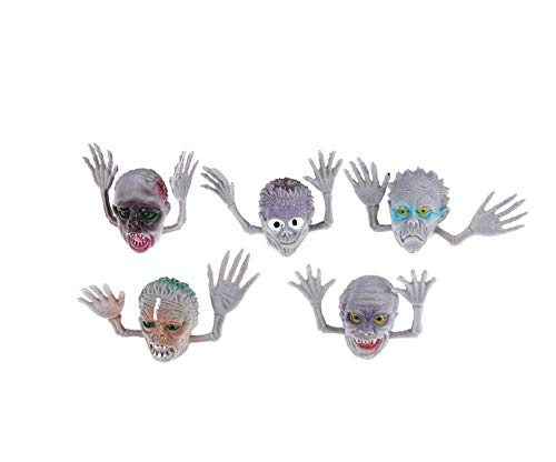 (Qsoleil Schreckliche Geräte 6 Teile/Satz Zombie Monster Fingerpuppen Halloween Party Horror Geschenk Zombie Finger Puppe Spielzeug (Zufällig))