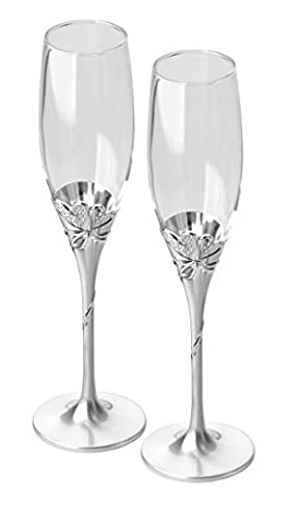 Present Day Heart Flutes, Pack of 2