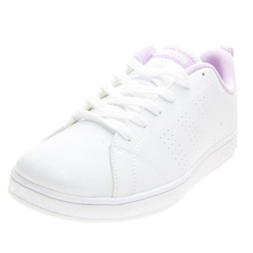 adidas VS ADVANTAGE CLE B74631 Unisex - bambino Scarpe sportive, Bianco 38 EU