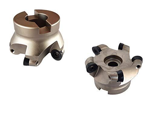 PAULIMOT Messerkopf Fräskopf 63 mm mit 5 Schneidplatten - Schneidplatten TiAlN-beschichtet