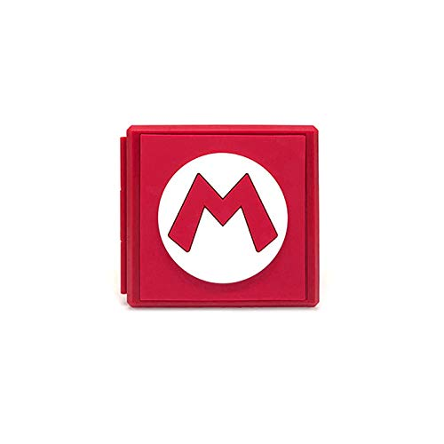 XuBa - Caja de Almacenamiento portátil para Nintendo Switch Games Nintendo Switch NS Accessories Rojo Rosso