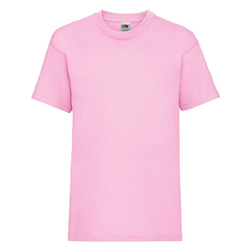 Fruit of the Loom Kinder T-Shirt Valueweight T Kids 61-033-0 Light Pink 140 (9-11)