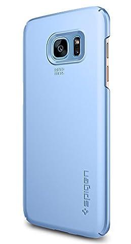 Coque Galaxy S7 Edge, Spigen [Thin Fit] Exact-Fit [Bleu] Premium Matte Finish Hard Coque Samsung Galaxy S7 Edge (2016) - (556CS21032)