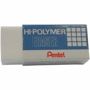 36 x Pentel Radierer Hi-Polymer 65x24,5x12,5mm weiß (Weiße Polymer Radierer)