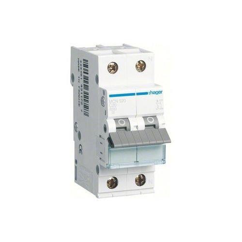 Hager MCN520, Circuit breaker 1 + N pole 20A, char.C, 6 ka (20 Amp Circuit Breaker)