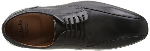Clarks Glenrise Over, Chaussures de ville homme Noir (Black Leather)