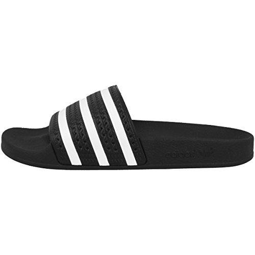 Adidas adilette–sandali da donna unisex adulto nero size: 36 2/3