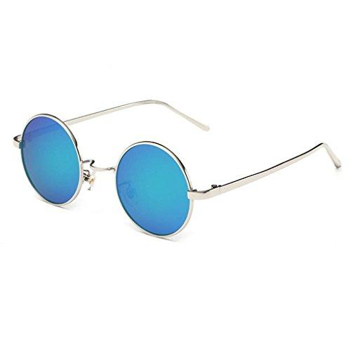 Providethebest Coolsir Männer Frauen Runde polarisierte Sonnenbrille UV400 Schutz Retro Driving Brillen Brillen 3#