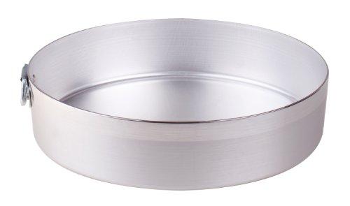 Pentole Agnelli Tortiera Cilindrica con Anello in Alluminio BLTF, Argento, 24 cm