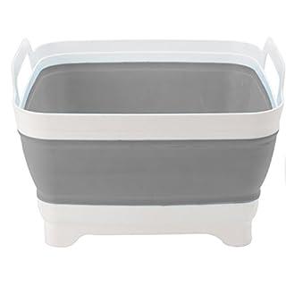 AiO-S - OK Spülschüssel 30 x 30 x 20 cm Campingschüssel grau Tischschüssel Waschzuber