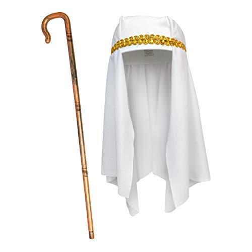 By Robelli Bambini 2 Pezzi Pastore Costume - Cappello + Crook Stick