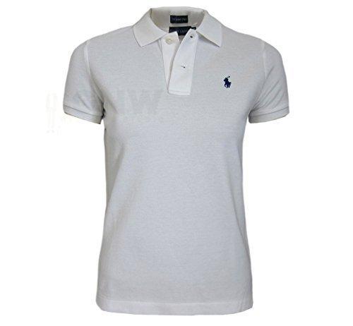 ralph-lauren-donna-skinny-polo-t-shirt-nero-blu-blu-scuro-bianco-s-m-l-xl-bianco-l