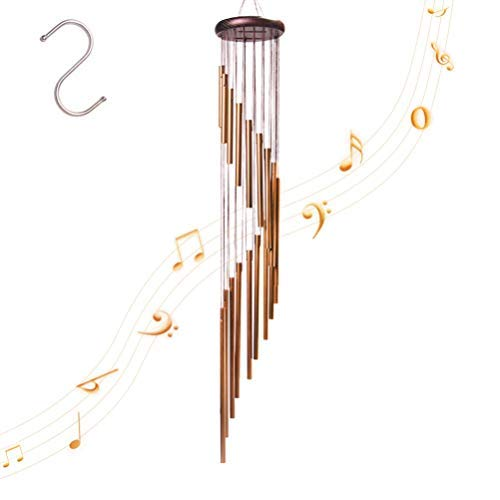 4-FQ Wind Outdoor, Wind Chimes Long Garten Chimes Glocken Tragbar Windspiel aus Metall für Home Garten Dekoration (Golden) | Garten > Dekoration > Windspiele | Metall - Aluminium - Nylon | 4-FQ