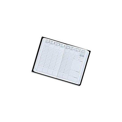 EXDI Agenda Semainier CALYPSO 10 x15 cm 1S / 2P Noir 2019