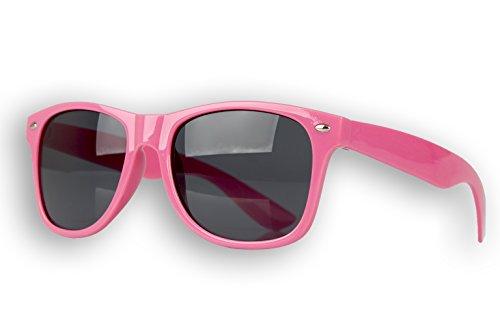 MultiBrands® Stylische Sonnenbrille im Wayfarer Stil - JETZT SELBST GESTALTEN - Brille UV400 - Pink