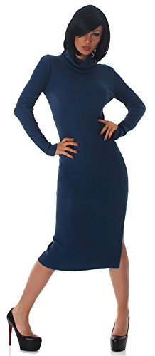Jela London - Robe - Crayon - Uni - Manches Longues - Femme petróleo