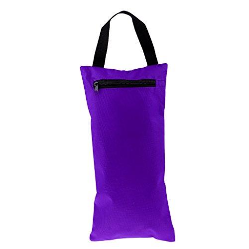 Homyl Ungefüllt Sandsack mit Innensack für Yoga Pilates Fitness Training, mit Tragegriff einfach zu tragen - Lila