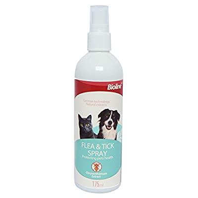 Anti Flea & Tick Spray (175ml) Treatment for Dogs, Cats & Pets Using Natural Ingredient by PetSol