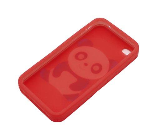 Xcessor Panda Gummi Silikon Schutzhülle Für Apple iPhone 4 4S braun rot