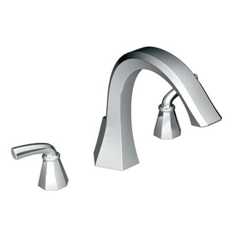 Moen TS243 Felicity Two-Handle High Arc Roman Tub Faucet, Chrome by Moen